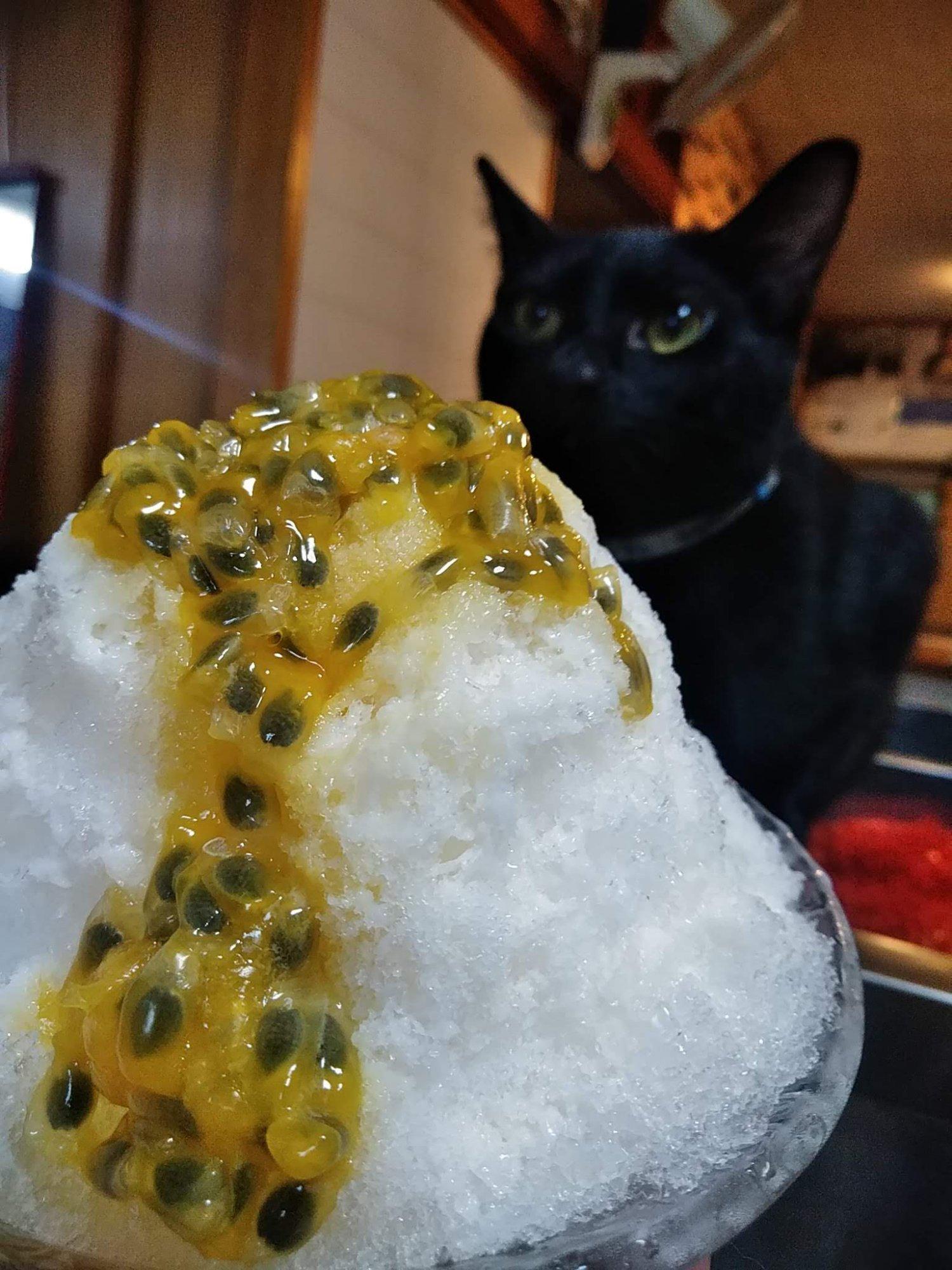 パッションフルーツかき氷