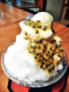アイスのせパッションフルーツのかき氷